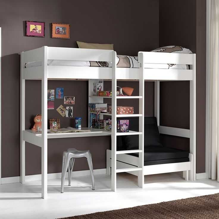 Lit Mezzanine Avec Rangement Magnifique Unique Lit Superposé • Tera Italy