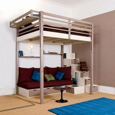 Lit Mezzanine Avec Rangement Unique Lit Superpose Escalier Avec Rangement Luxe Lit Avec Escalier