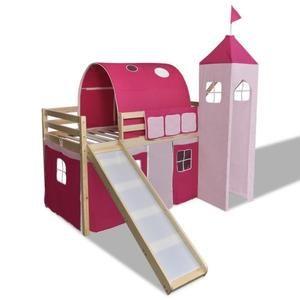 Lit Mezzanine Avec toboggan Belle Protection toboggan Achat Vente Jeux Et Jouets Pas Chers