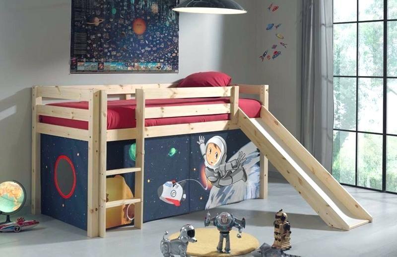 Lit Mezzanine Avec toboggan Impressionnant Lits Mi Hauts Lit toboggan 90x200cm Design Pirate En Hatre Mob Bebe Avec