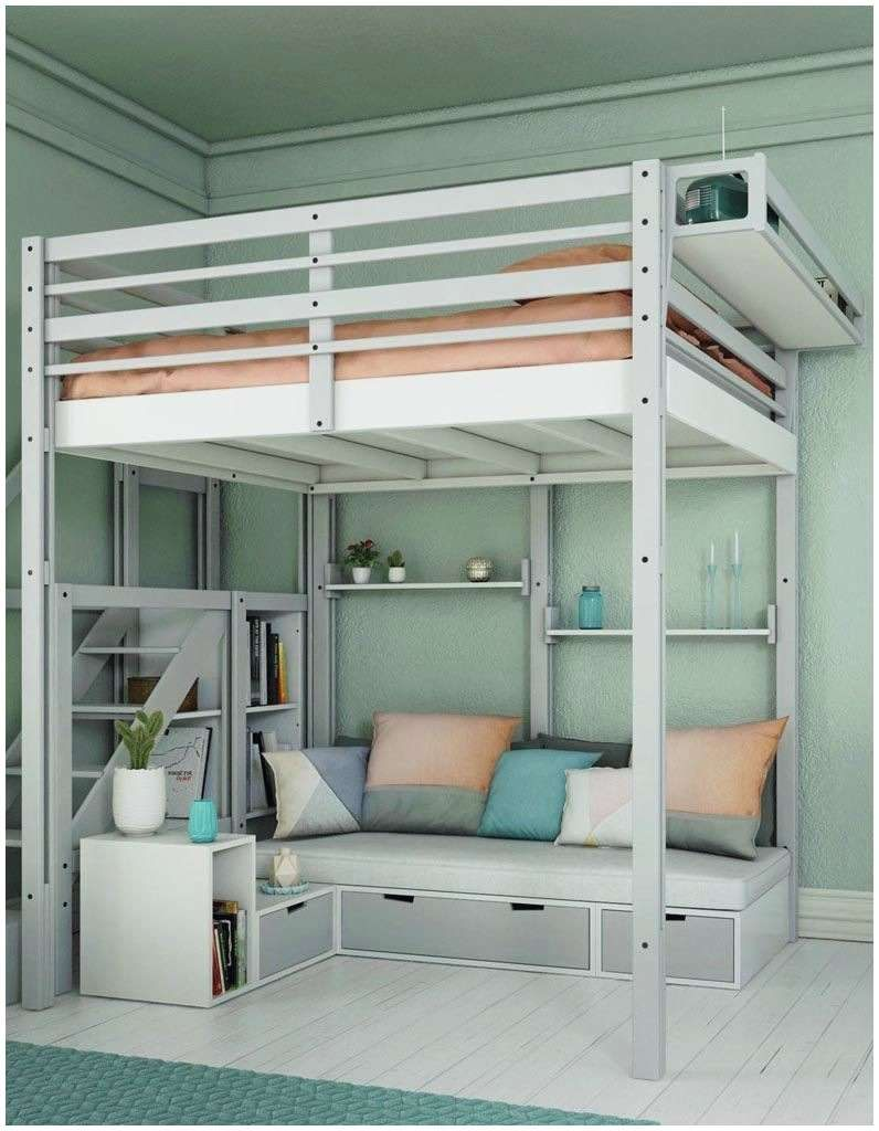 Lit Mezzanine Bas Luxe Frais Bloc De Rangement Nouveau Lit Avec Escalier Rangement Lit