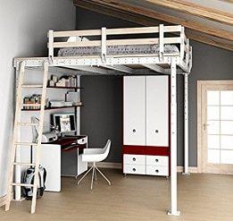 Lit Mezzanine Bois 2 Places Agréable Lit Mezzanine 2 Places Idéale Dans Une Chambre