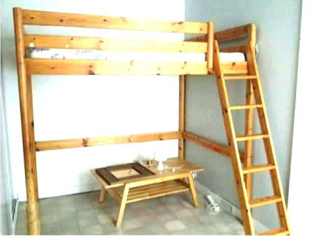 Lit Mezzanine Bois 2 Places Élégant Lit Mezzanine 2 Places Avec Plateforme – Krvavicafo