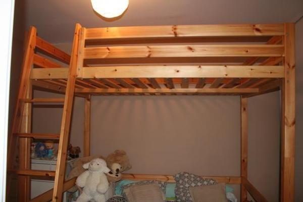 Lit Mezzanine Bois lit mezzanine avec bureau integre 14 lit