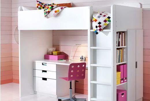 Lit Mezzanine Bureau Enfant Élégant Lits Mezzanine Et Lits Superposés Ikea Chambres Pinterest