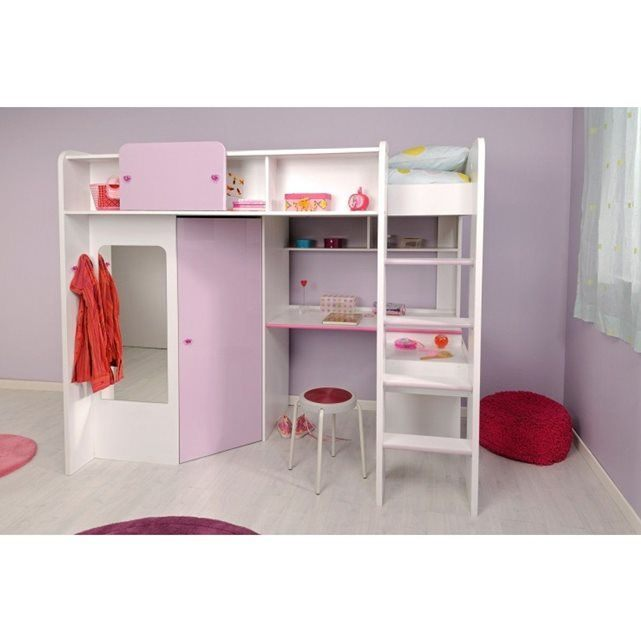 Lit Mezzanine Bureau Enfant Frais Lit Mezzanine Fille Joyce 90×200 someo