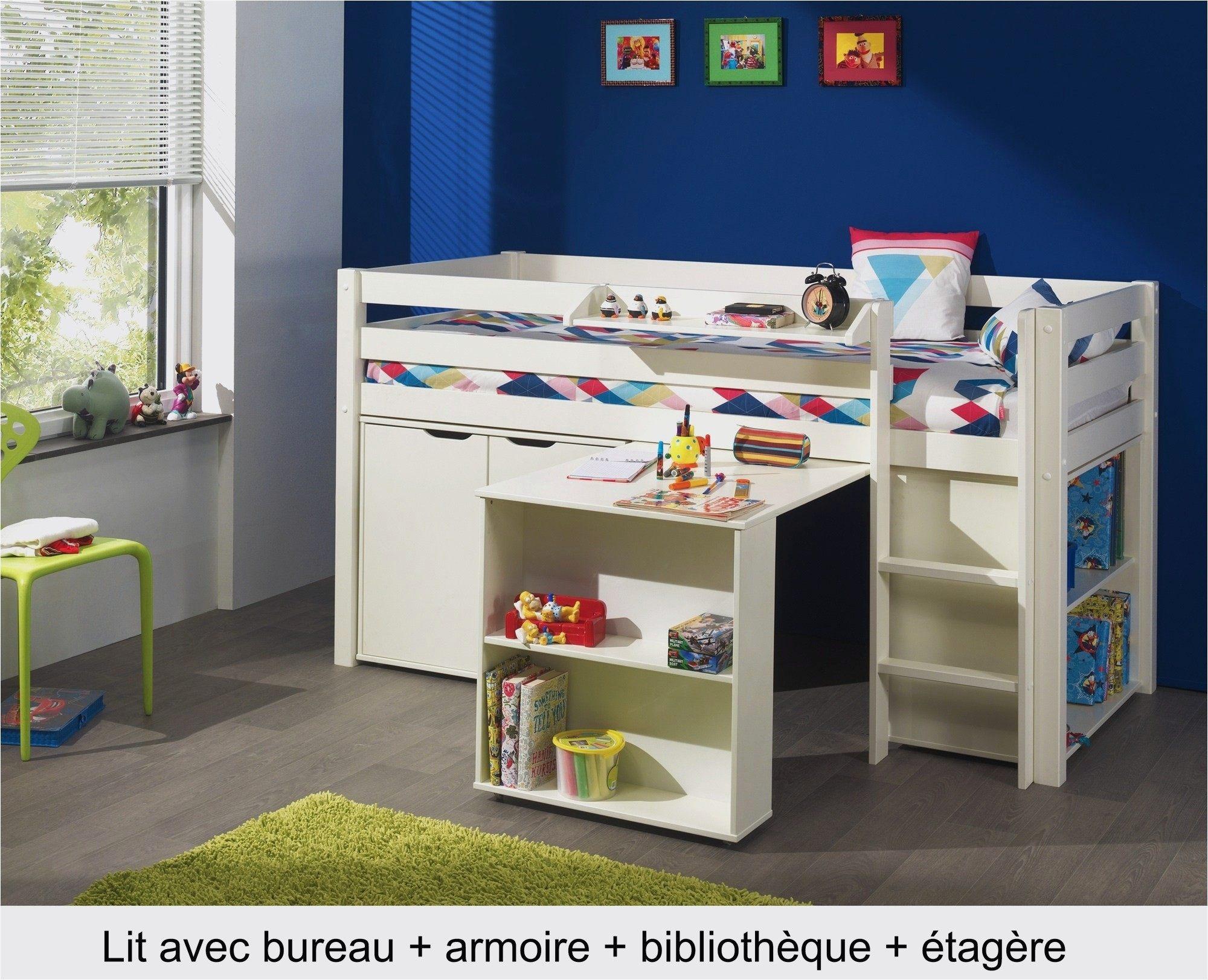 Lit Mezzanine Bureau Fly Charmant attrayant Lit Mezzanine Avec Bureau Et Armoire Avec Lit Mezzanine