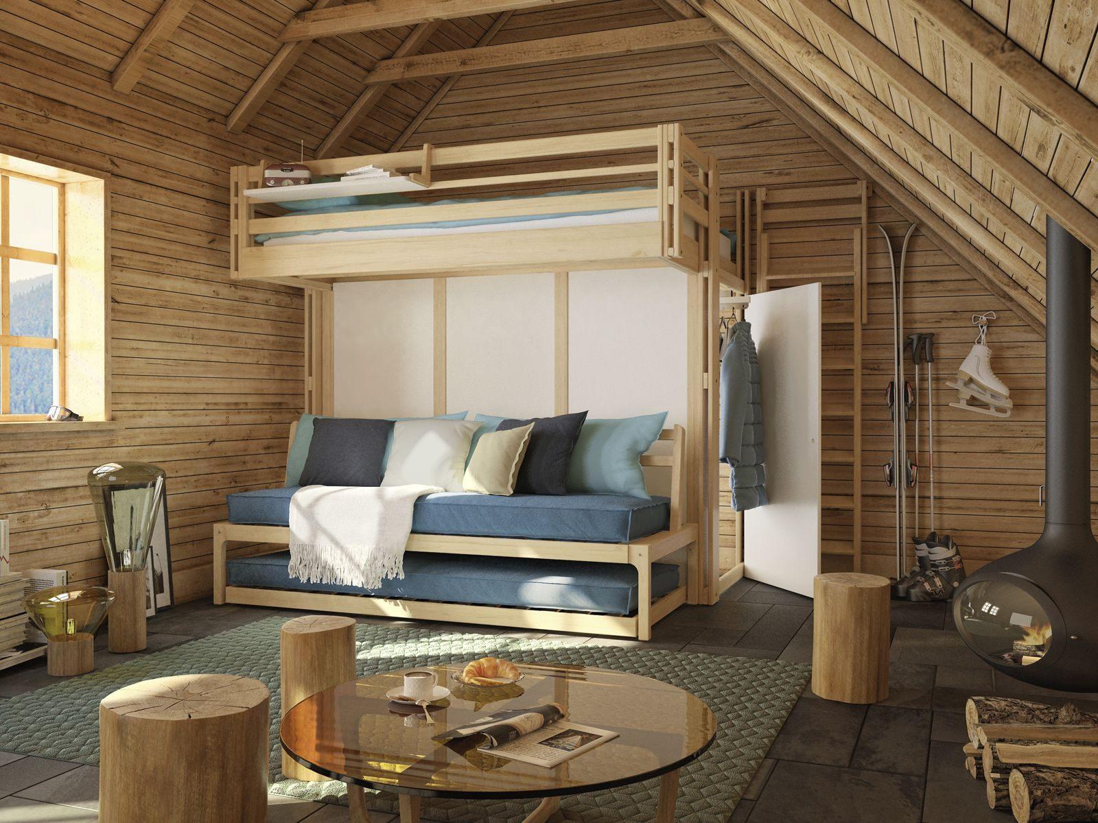 Lit Mezzanine Cabane Bel épinglé Par Espace Loggia Sur Lits Mezzanine En 2019