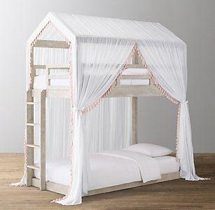Lit Mezzanine Double Agréable Cole Tassel Voile Canopy Bed Rh Baby & Child