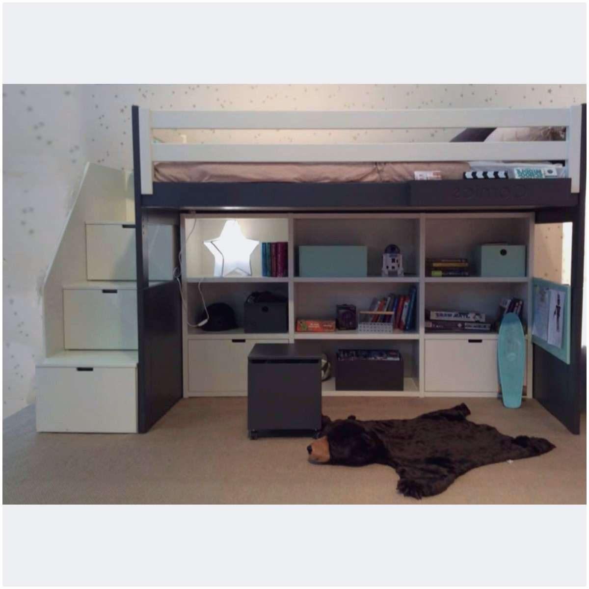 Lit Mezzanine Enfant Avec Bureau Luxe Impressionnant 26 Frais Lit Mezzanine Escalier Bureau 17o Pour
