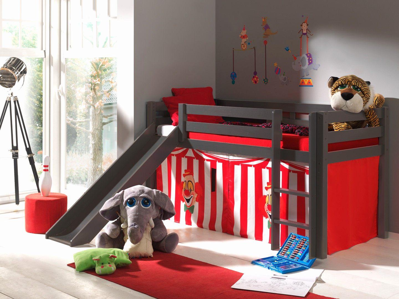 Lit Mezzanine Enfant Pas Cher Douce Lit Mezzanine toboggan Luxe Habillage De Lit Surélevé Ou Lit