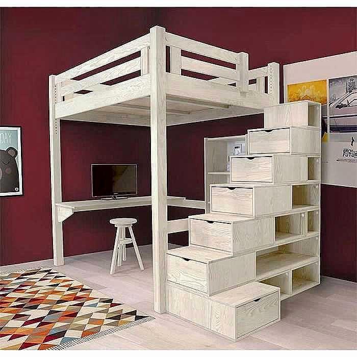 Lit Mezzanine Escalier Bel Escalier Avec Rangement Génial Ikea Bureau Etagere Bureau sous