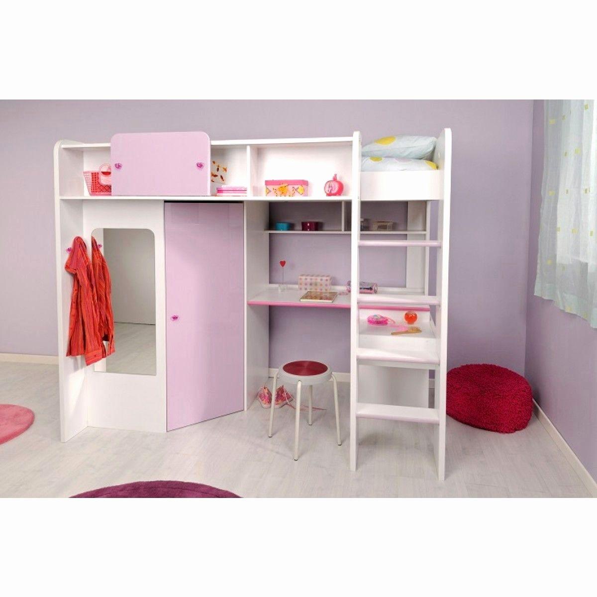 Lit Mezzanine Et Bureau Élégant Lit Mezzanine Avec Rangement Luxe Lit Mezzanine Bureau Fille Fresh