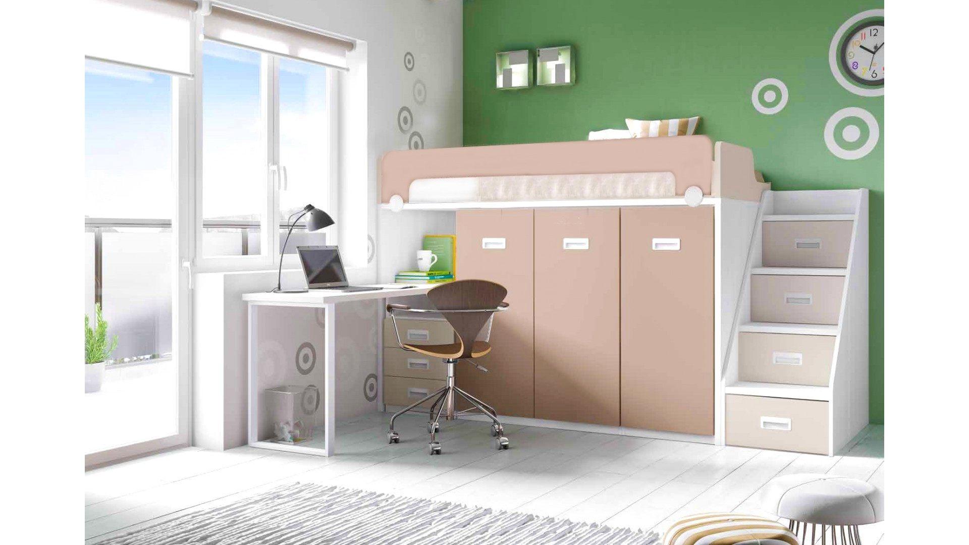 Lit Mezzanine Evolutif Nouveau Avenant Lit Bureau Armoire  Armoire Lit Bureau Lit Armoire 2 Places