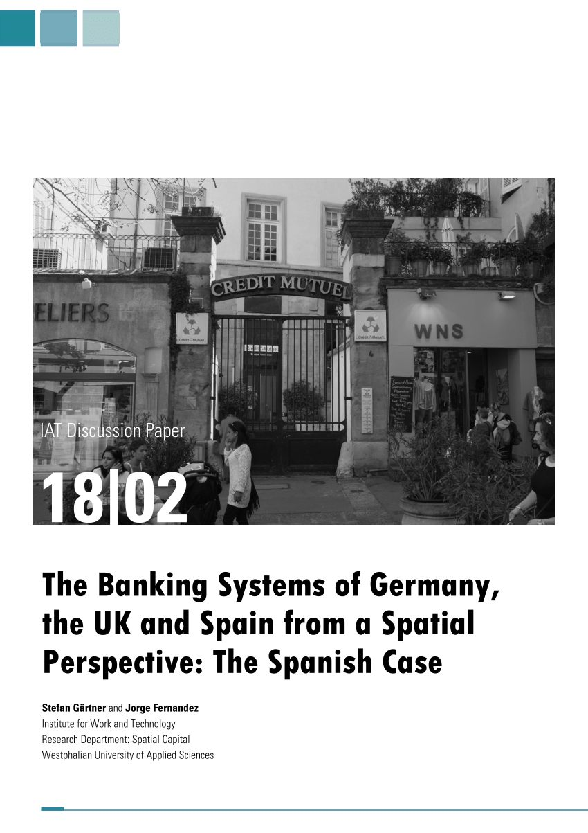 PDF The Banking Systems of Germany the UK and Spain from a Spatial