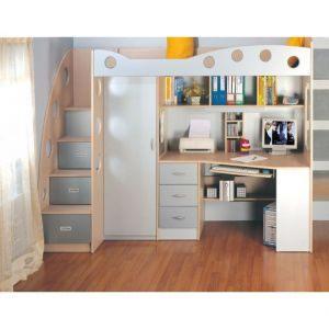 Lit Mezzanine Noir Luxe Lit Mezzanine Noa Lit Bureau Unique Best Media Cache Ec0 Pinimg 550x