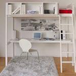 Lit Mezzanine Pas Cher Génial Lit Mezzanine Blanc Avec Bibliotheque Inspiration