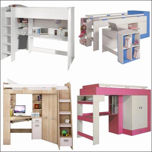 Lit Mezzanine Pour Enfant Magnifique Lit Mezzanine Avec Rangement Adulte Luxe Lit Enfant Bureau Chambre