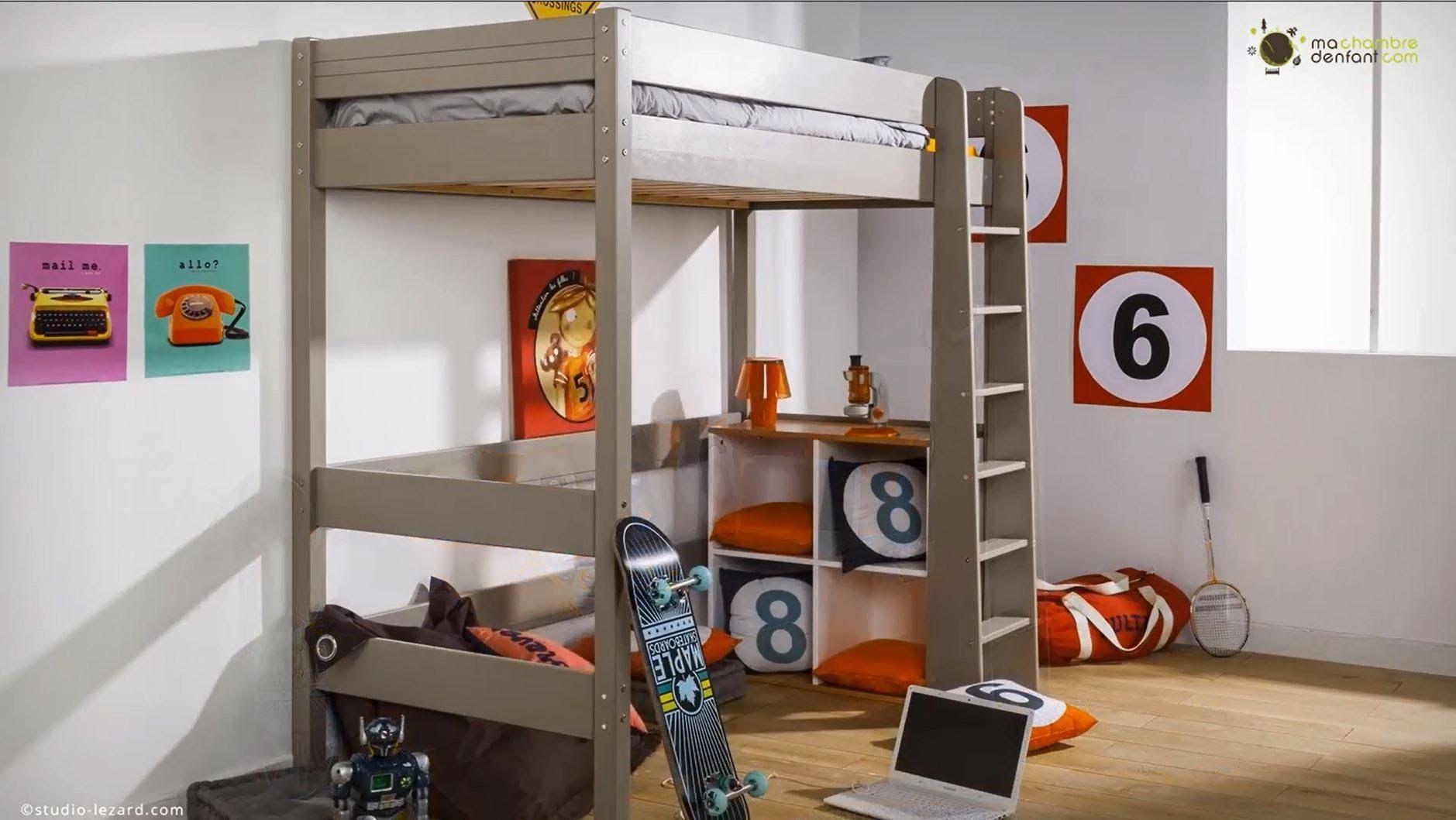 Lit Mezzanine Studio Agréable Lit Mezzanine Haut Lit Mezzanine 140—190 Bois Frais Lit Discount 140