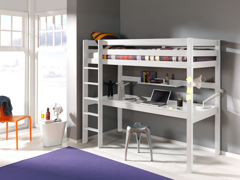 Lit Mi Haut Enfant Joli Bi Lit Mezzanine 4 Nouveau Bureau De Lit – Ccfd Cd