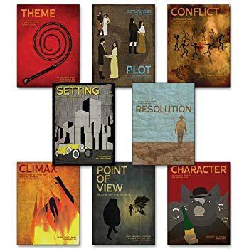 Lit Minnie Pas Cher Élégant Amazon Novel Guide Figurative Language Mini Posters Set Of 18