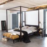 Lit Moderne 160x200 Frais Lit  Baldaquin En Acacia Massif 160x200 Bedroom