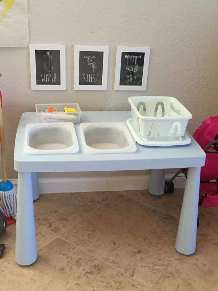 Lit Montessori Ikea Le Luxe Montessori Style Washing Station All with Ikea Supplies