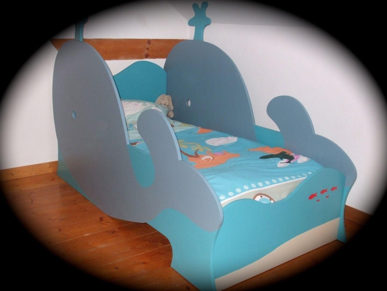 Lit Original Enfant Élégant Lit Baleine Pour Enfant Gar§on Original Et écologique Chambre D