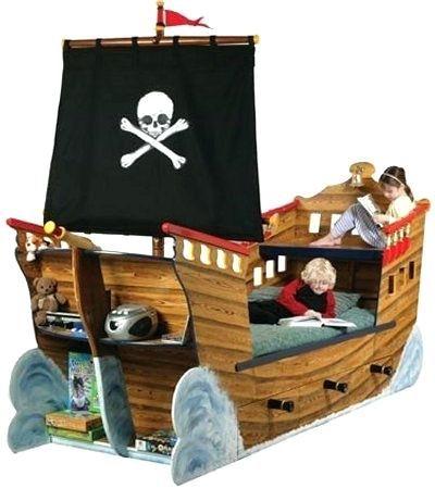 Lit Pirate Enfant Élégant Lit Bateau Adulte Lit Bateau Pirate Lit forme Bateau Adulte
