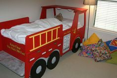fire station loft bed for kids site has full tutorial ana white