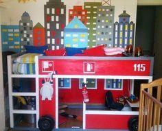 Lit Pompier Enfant Nouveau Fire Station Loft Bed for Kids Site Has Full Tutorial Ana White