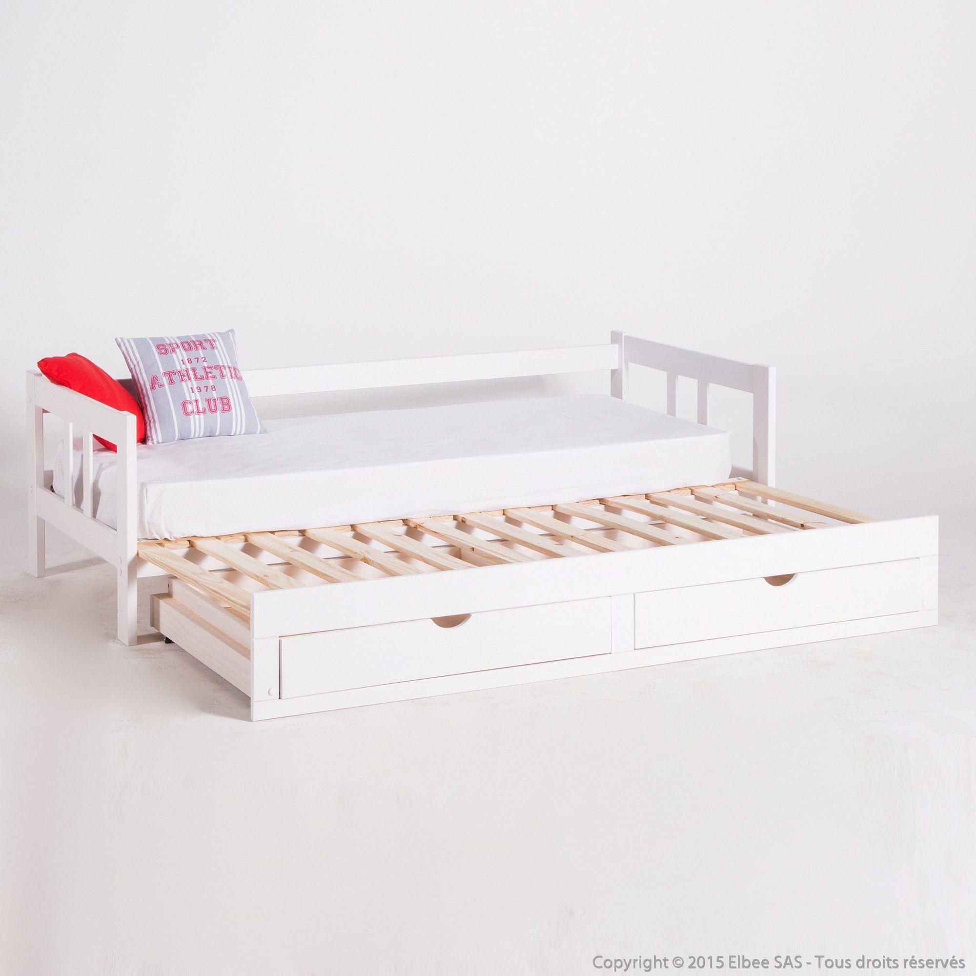 Lit Pont 2 Personnes Inspiré Pont De Lit Ikea