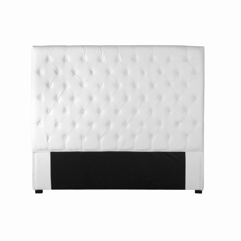conforama tete de lit blanche