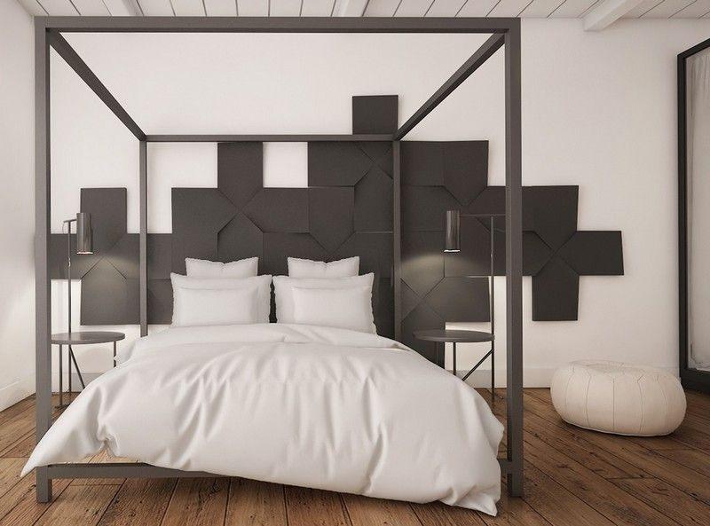 Lit Rond 160×200 Le Luxe Chambre Adulte Blanche 80 Idées Pour Votre Aménagement