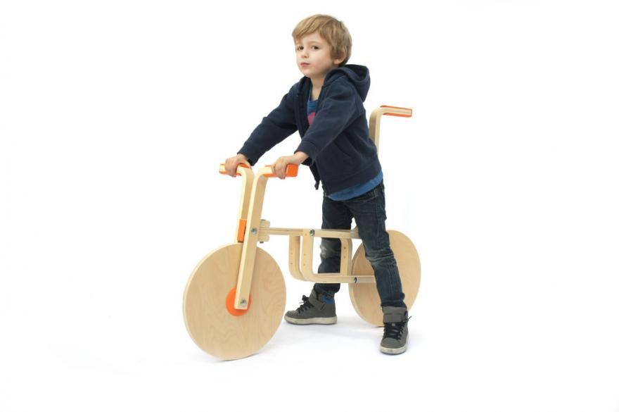 Hackers take two IKEA stools and turn them into a kid s bicycle