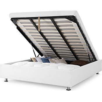 Lit Simili Cuir 160×200 Meilleur De Europedirectshopping Lit Coffre Luna Ottoman Blanc