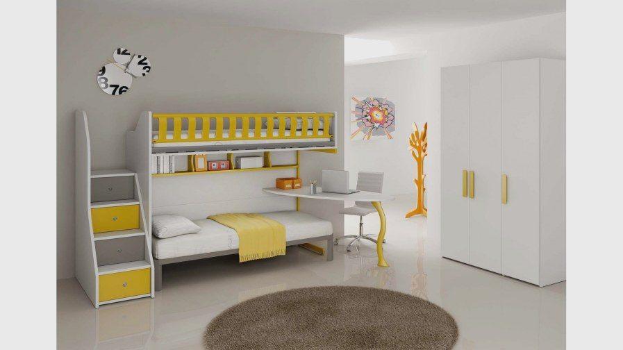 Lit Superposé 2 1 Agréable Lit Superposé Mezzanine Beau Chambre Avec Lit Superpos 27 Fille C3