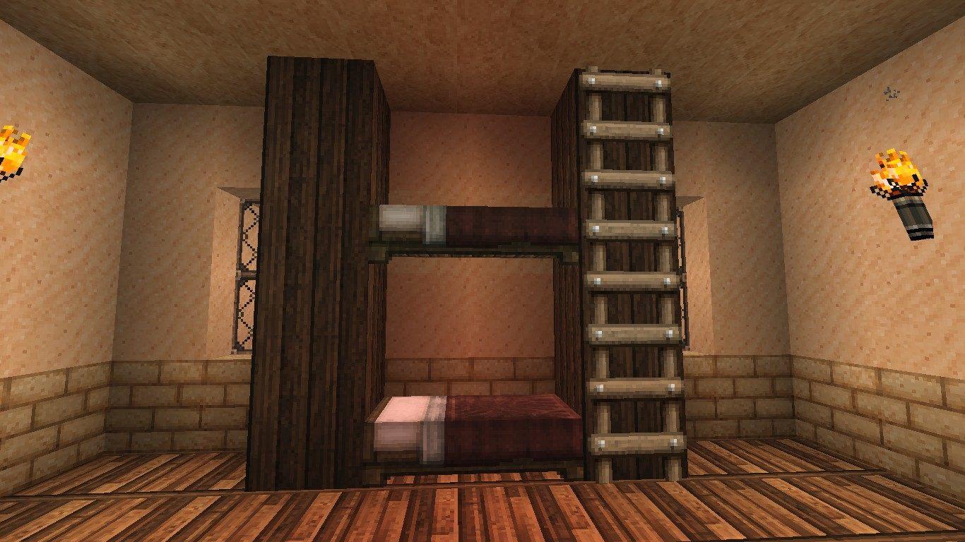 Lit Superposé 2 1 Nouveau Ment Faire Un Lit Superpos Dans Minecraft Minecraft Aventure