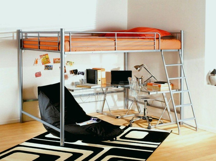 Lit Superposé 2 Personnes Inspiré Lit Mezzanine Avec Bureau Ikea