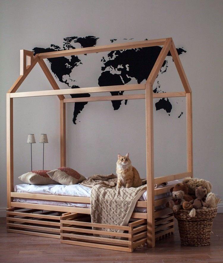 Lit Superposé 3 étages Luxe Napravite Ležajnu Kućicu Za Malu Lutku Demonstracija Na Fotografijama