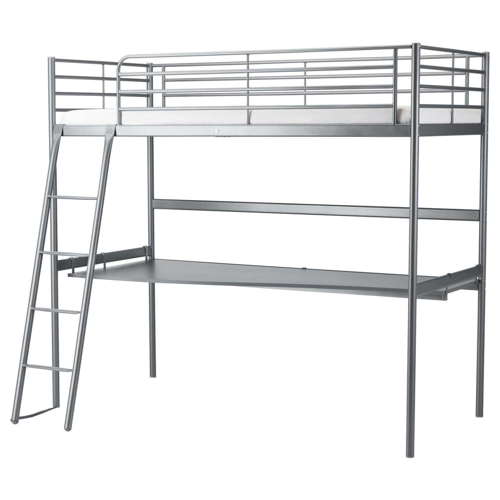 Lit Superposé 90x200 Douce Lit Mezzanine Avec Bureau Ikea