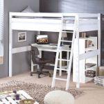 Lit Superposé Avec Bureau Belle Lit Mezzanine Blanc Ikea