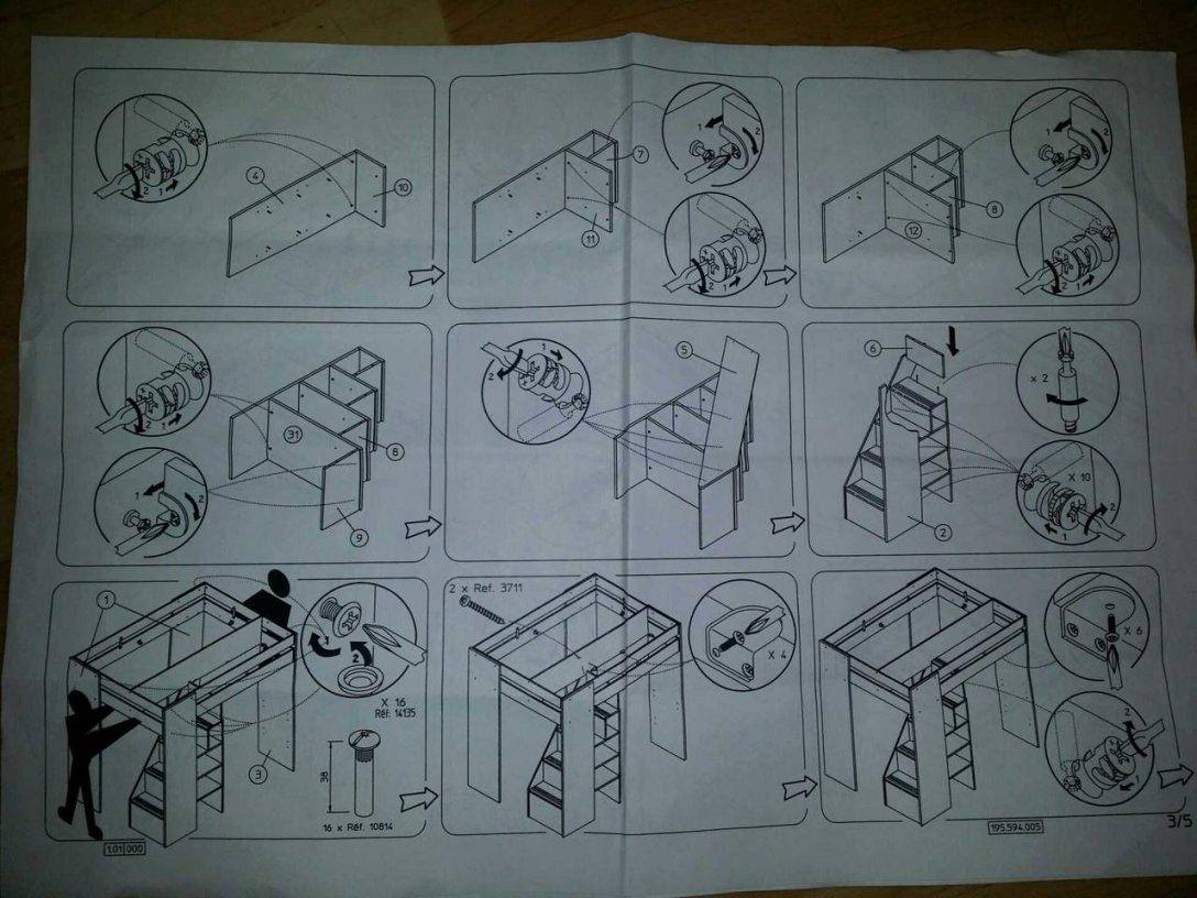 Lit Superposé Avec Bureau Inspiré Lit Mezzanine Avec Clic Clac Ikea