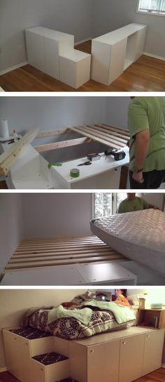 Lit Superposé Combiné Génial Лучших изображений доски Platform Bed with Storage 136 в 2019 г