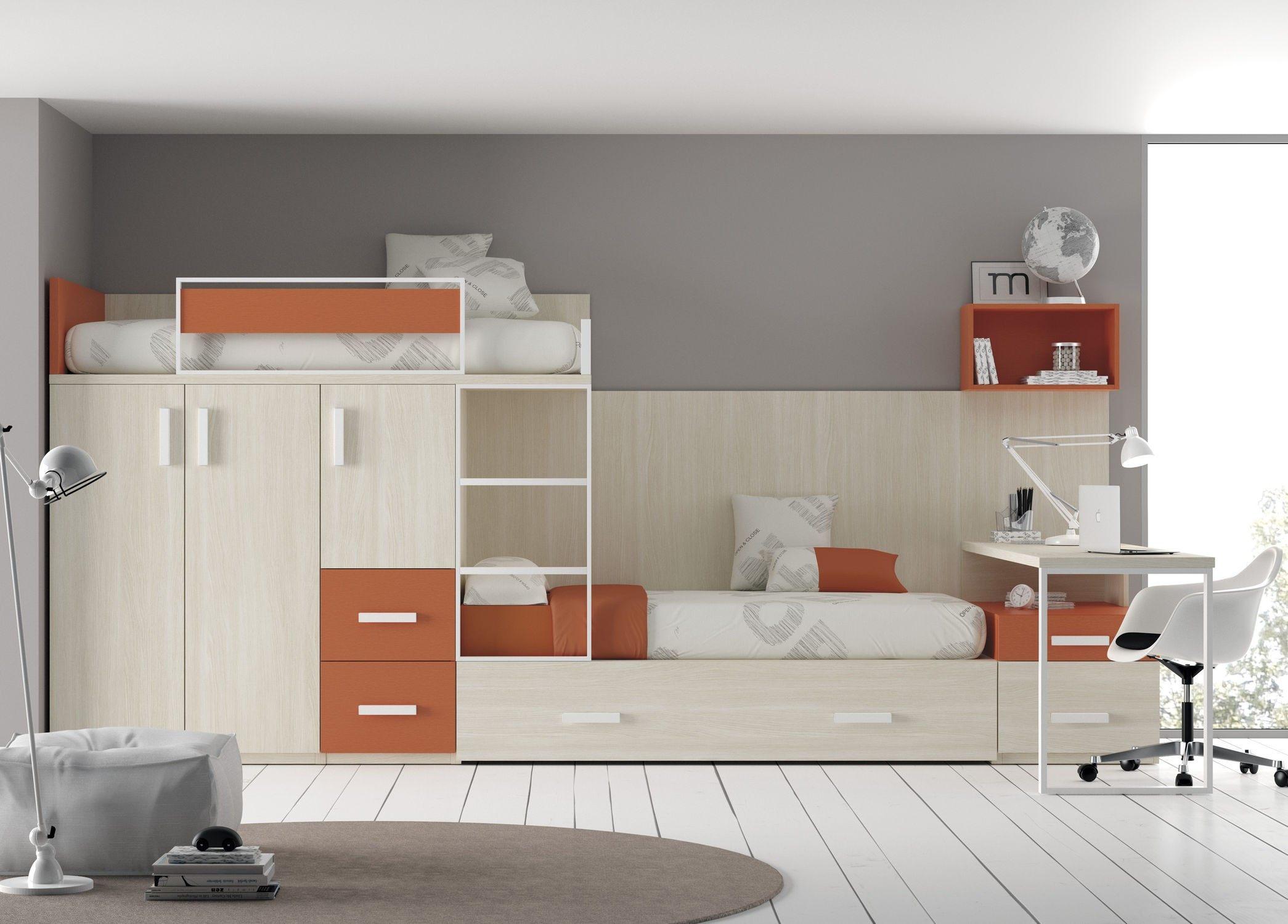 Lit Superposé Design Magnifique Beau Chambre Enfant Lit Superposé  Lit Biné Armoire Fresh Lit