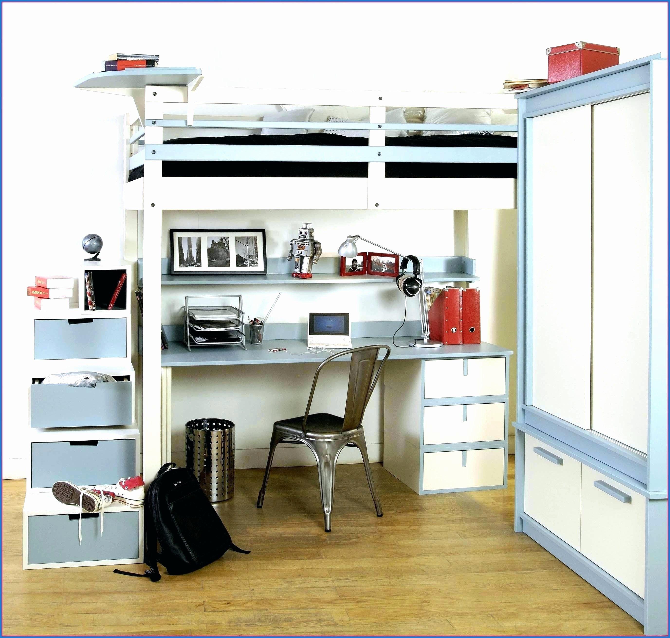 Lit Superposé En Fer Bel Lit Biné Mezzanine Bureau Armoire élégant Bureau Fer forgé Ikea