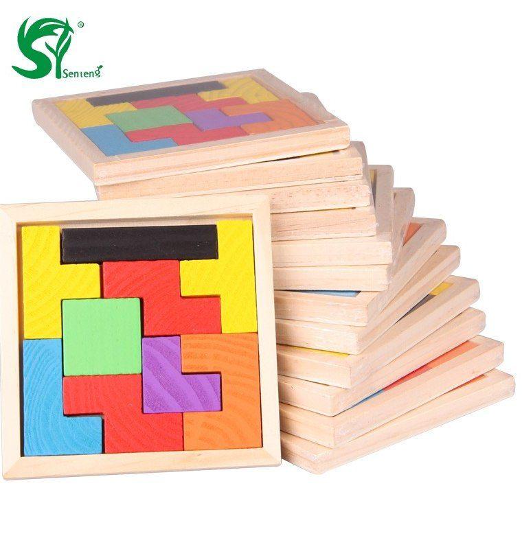Lit Superposé Jouet Beau ①montessori En Bois Jouets Pour Enfants Tangram Casse Tªte Puzzle