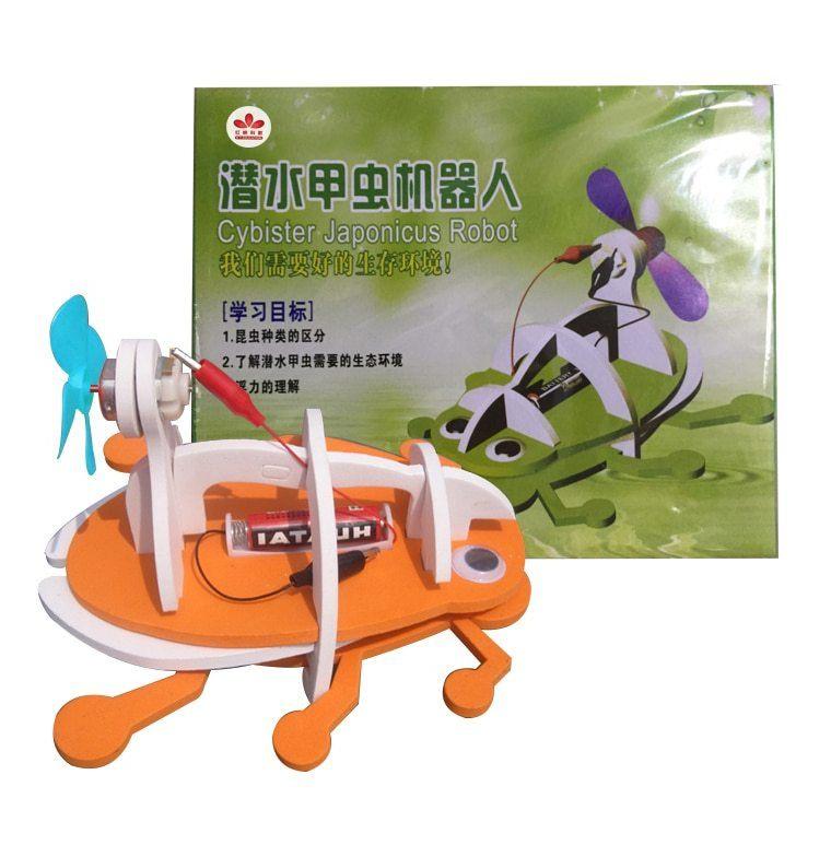 ᗜ LjഃBionique électrique Beetle Mod¨le Kits DIY Enfants Robot