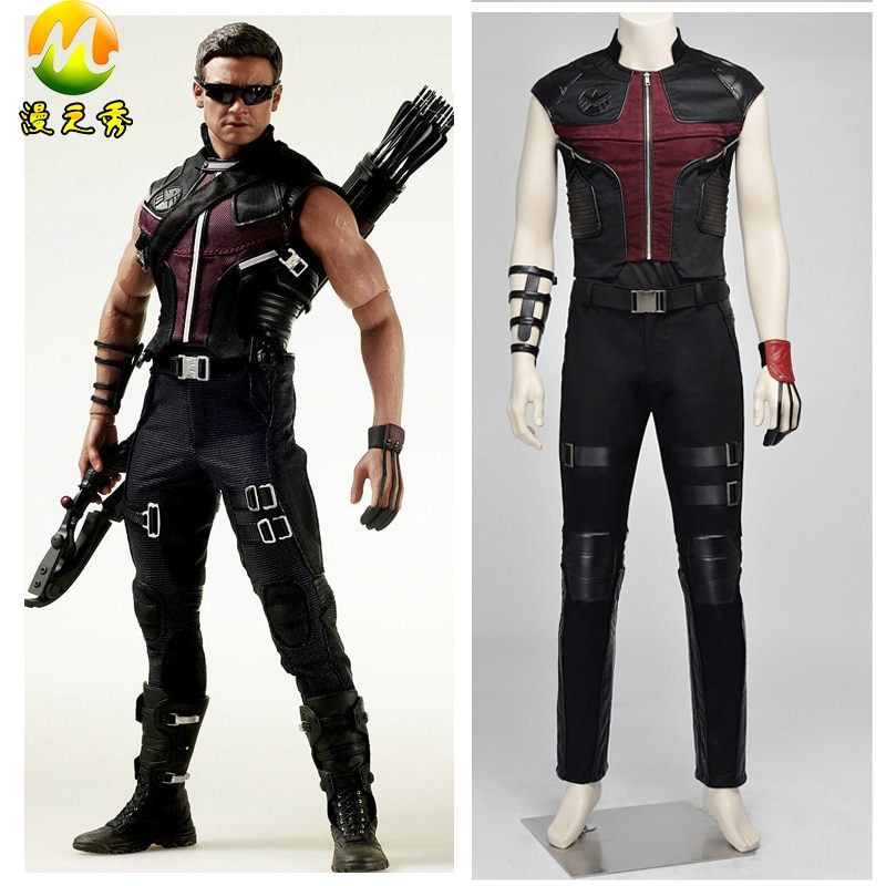 Lit Superposé Pompier Charmant Upgrade Version the Avengers Hawkeye Cosplay Costume for Adults Men