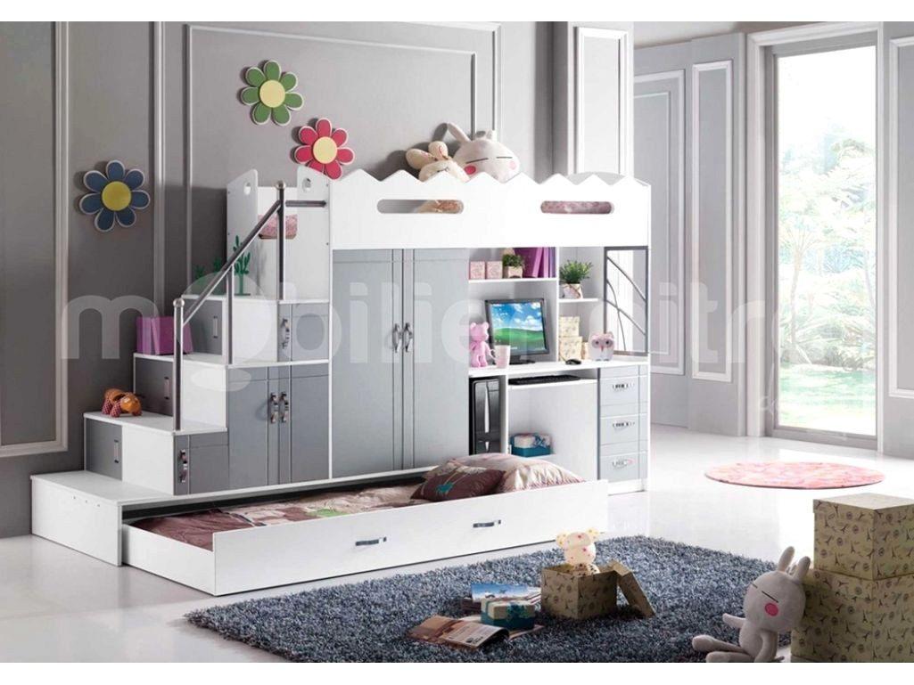 Lit Superposé Separable Magnifique Mezzanine Avec Bureau Et Armoire